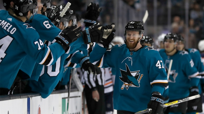 Sharks Outlast Oilers Thanks to Joakim Ryan's Career Firsts