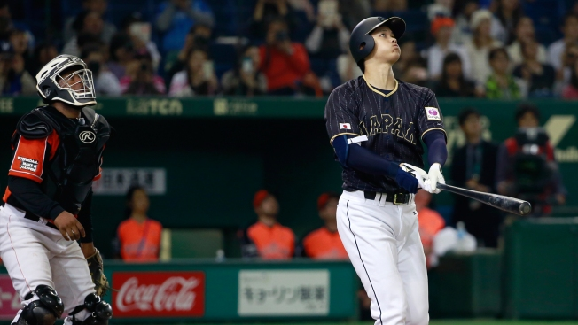 Power-hitting Japanese Phenom Pitcher Hits Ball Into Roof of Tokyo Dome