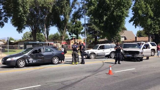 Multi-Vehicle Crash Snarls Traffic in San Jose; No Injuries