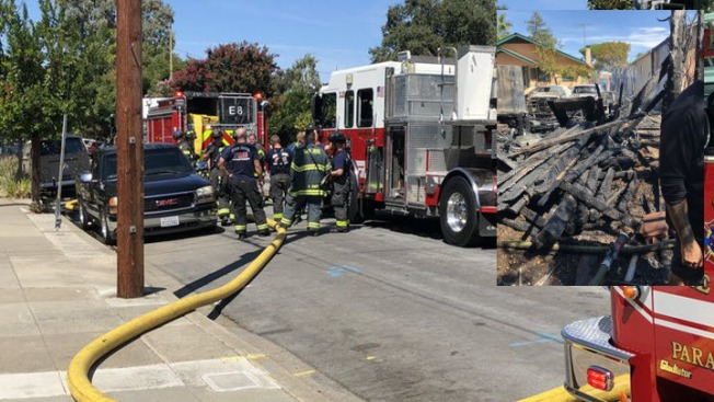Fire Destroys Detached Garage at San Jose Home