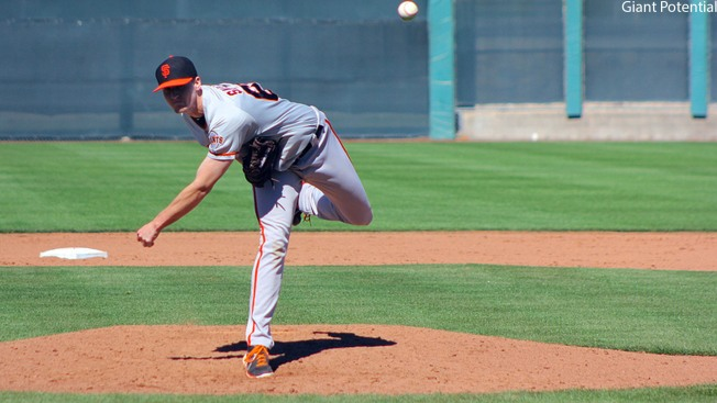Giants' Snelten Shining in Arizona Fall League, Beede Makes Mechanics Change