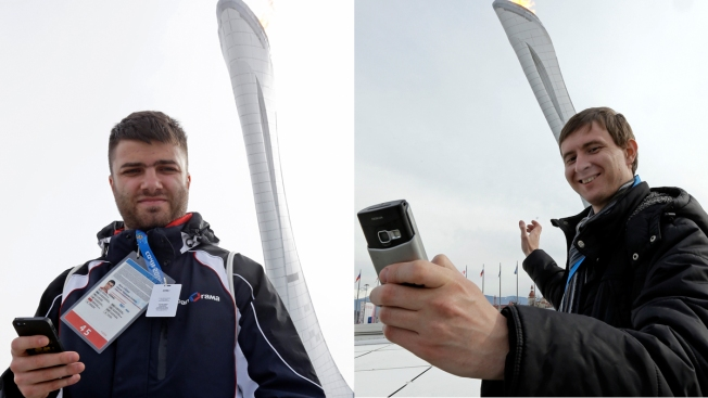 Like Selfies to a Flame: Olympic Cauldron Is Hot Spot for Sochi Photos