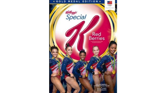 US Women's Gymnastics Team Immortalized on Cereal Box