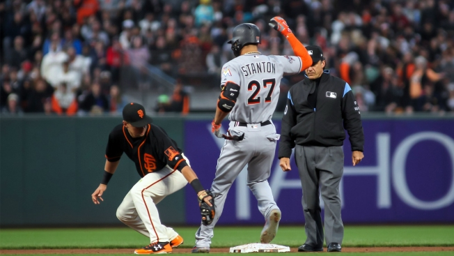 Giants GM says parameters of Stanton trade have been reached