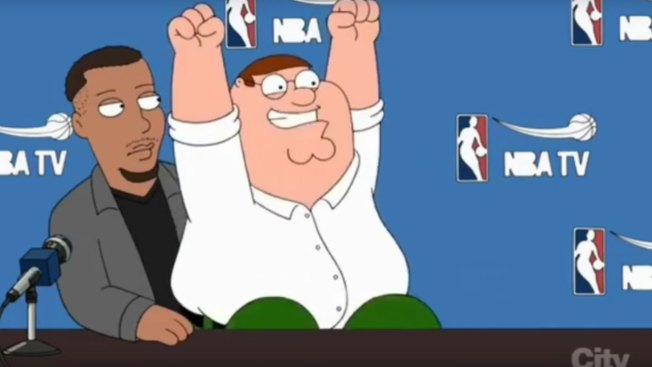 Steph Curry makes appearance on Family Guy