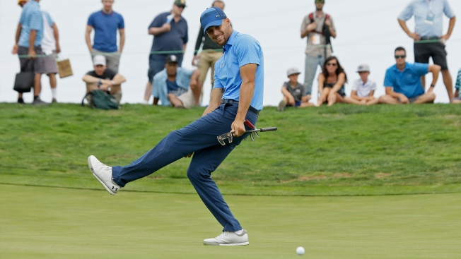 Watch Steph Curry Eagle 18 to Close Second Round of American Century