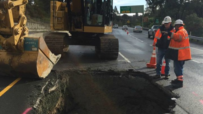 RIP #StevetheSinkHole, 'Andy Asphalt' is Born: Highway 13 in Oakland Now Open