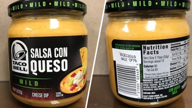 Kraft Heinz Recalls Taco Bell Salsa Con Queso Over Botulism Risk