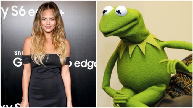 Kermit Throws Major Green Shade at Chrissy Teigen as Internet Explodes