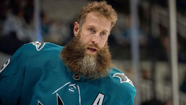 Hockey player loses part of beard during fight