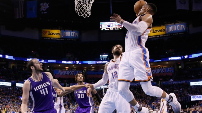 Paul George struggles from field as Thunder drop one in Sacramento