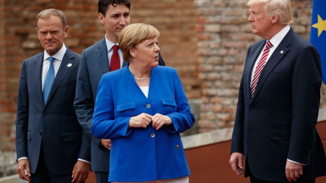 Trump isolated at G7 talks over climate