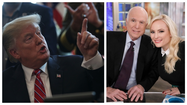 'He Will Never Be a Great Man': Meghan McCain Responds to 'Pathetic' Trump Slam of Her Father