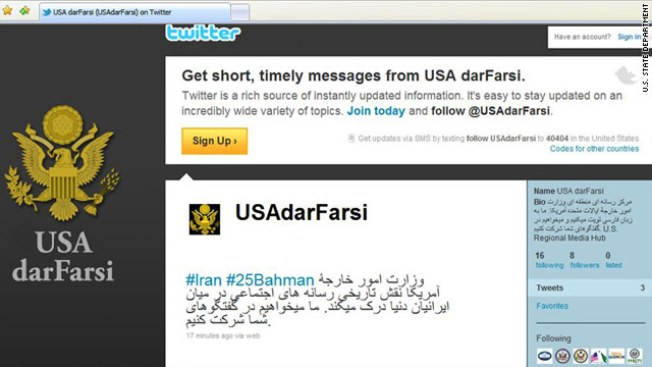State Department's New Frontier: Twitter in Farsi