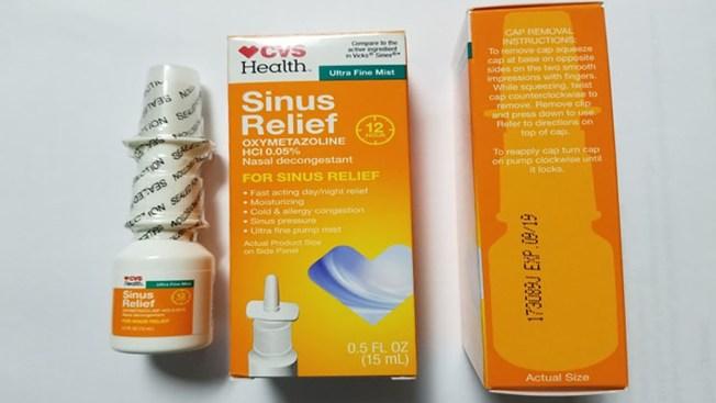 CVS Health Sinus Relief Nasal Mists Recalled Due to Contamination