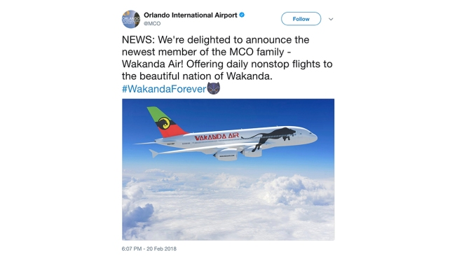 Next Flight to Wakanda? Airports Have Some Fun on Twitter