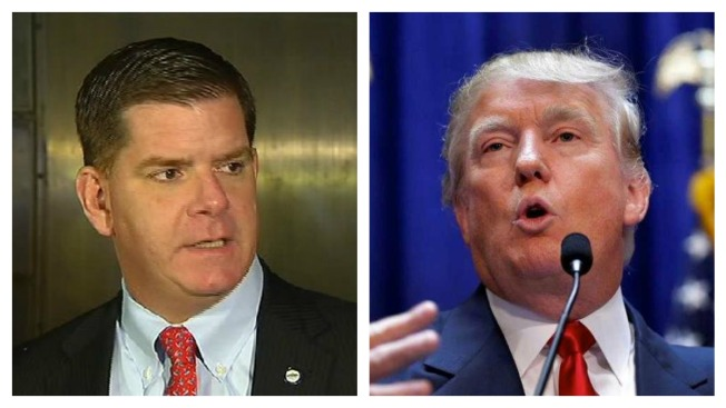 Boston Mayor Says Trump Should Apologize or Stay Out of Boston