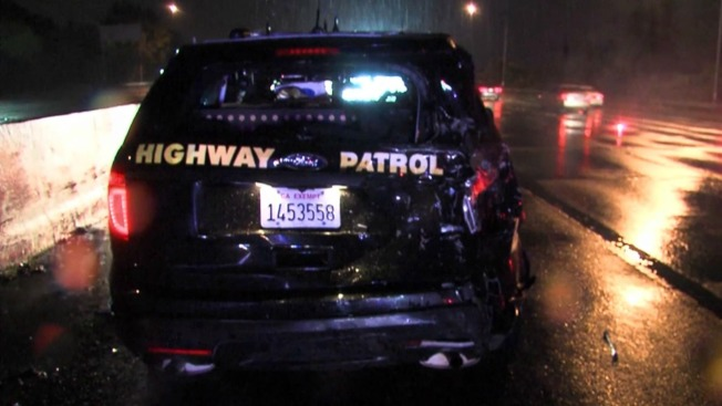 Two CHP Officers Sitting in Squad Car Hit by Vehicle, Injuries Suffered
