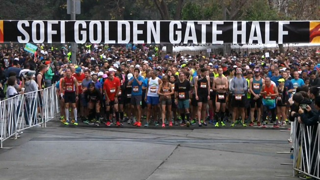 Runners Treated to Race Over Golden Gate Bridge During Half Marathon