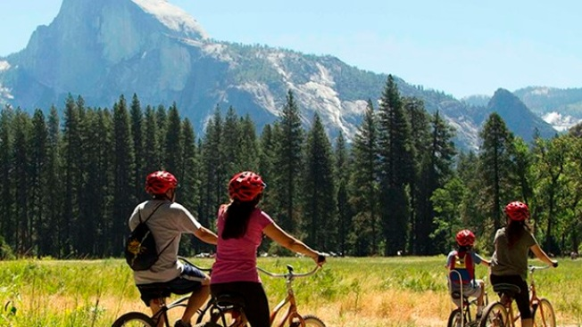 Yosemite Valley's Bike Rental Stand Ready to Roll