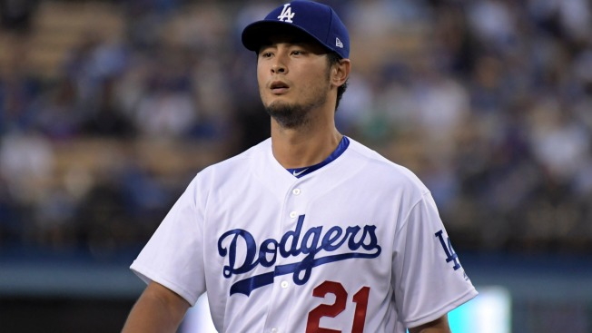 Dodgers' Yu Darvish heading to 10-day DL with back issue