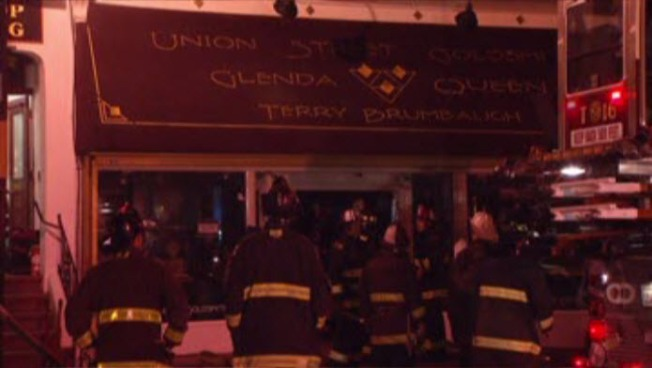 """Fire at Jewelry Store Near """"Bus Stop Saloon"""" on Union Street in San Francisco. By NBC Bay Area staff"""