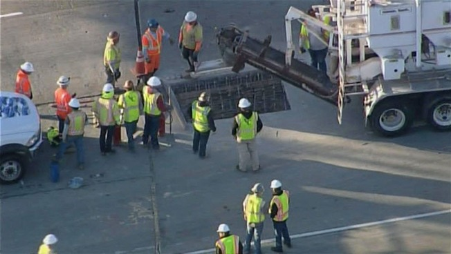 Emergency Pothole Repair Shuts Down Lanes of Interstate 680 in Fremont
