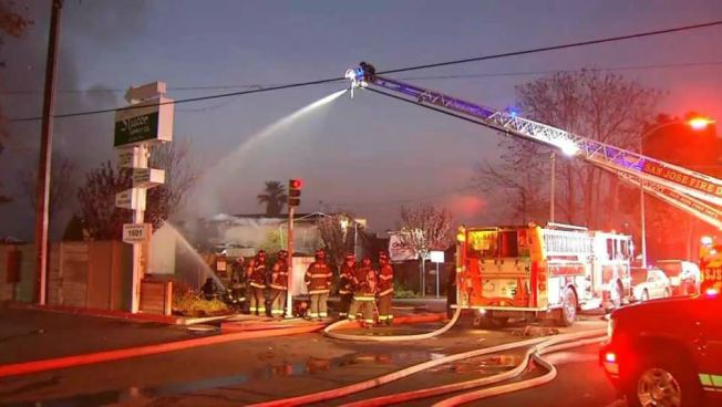 Blaze Guts Auto Body Shop in San Jose: Fire Department