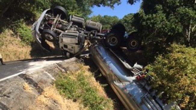 Overturned Tanker Triggers Closure of Marin County Road