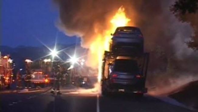 Major Delays on Highway 24 Due to Big Rig Fire