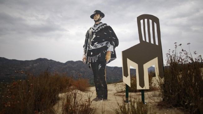 Vandalized Clint Eastwood Cutout Seeks Safe Home in Glendale Hills