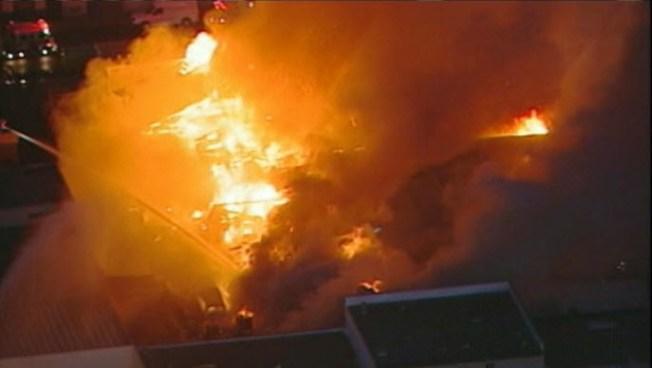6-Alarm Machine Shop Fire in Redwood City - NBC Bay Area