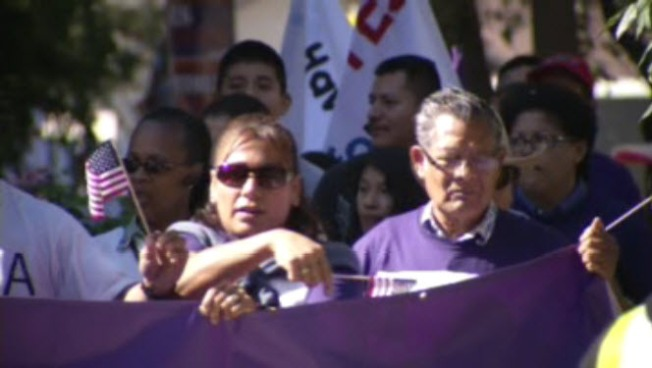 Immigration Reform Rally Held at South San Jose Park