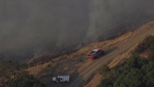 CalFire Battling Grass Fire Near Los Gatos/San Jose Border