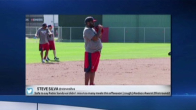 Pablo Sandoval at Spring Training Appears to Have Put on Weight