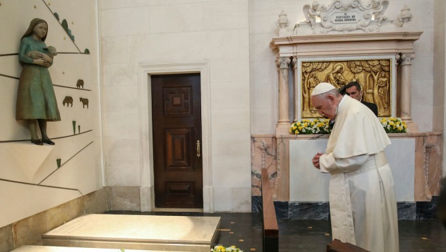 Pope Francis attends Blessing of the Candles ceremony in Portugal