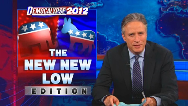 "Stewart Mocks Republican Outrage Over Biden's ""Chains"" Remark"