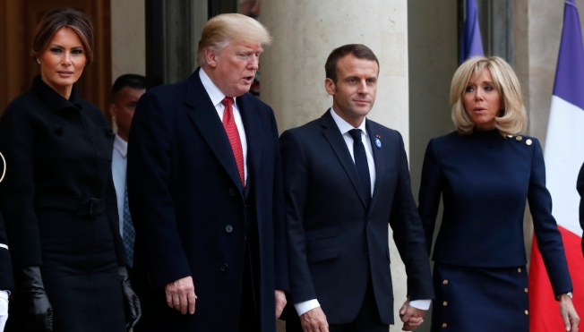 In Paris, Trump the 'Nationalist' Stood Apart From Others