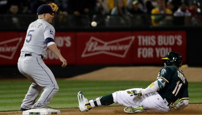 A's Slug Their Way Past Mariners in Series Opener