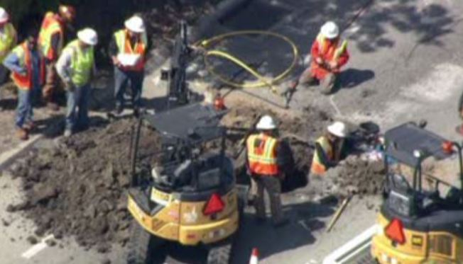 Menlo Park Gas Leak  Capped