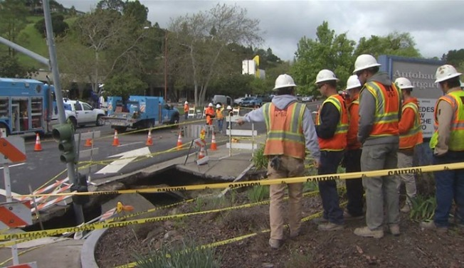 Moraga Utility Crews to Replace Temporary Fixes Used Since Sinkhole Formed Last Month