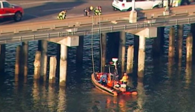 Person Rescued from Water Under San Mateo Bridge