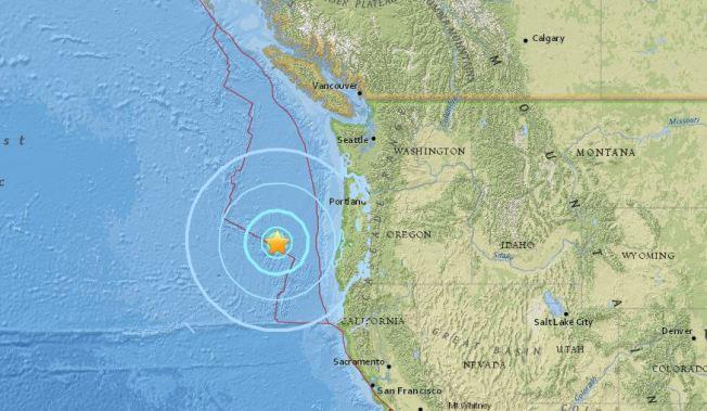 6 2 Magnitude Earthquake Strikes Off The Coast Of Oregon Nbc Bay Area