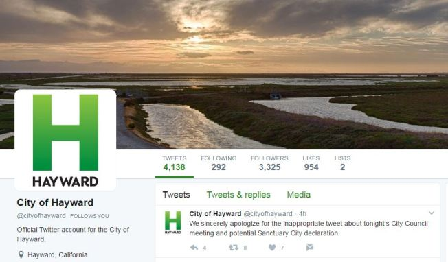 Red-Faced City of Hayward Apologizes for 'Taco Bout It' Tweet