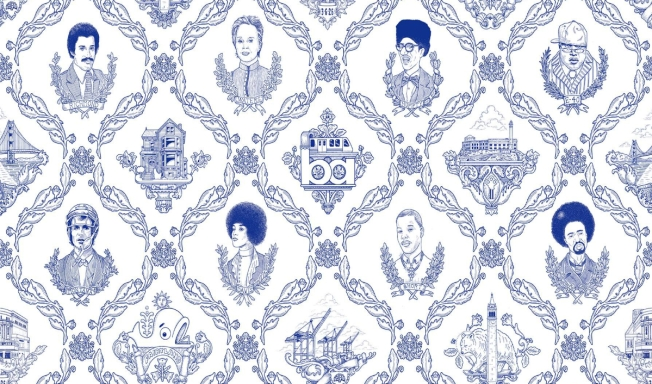 The Lonely Island Creates 'Bay Area Toile' Wallpaper, Art Show
