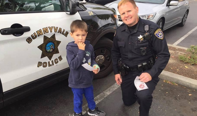 Sunnyvale Police Officer Comforts Distressed Special Needs Child