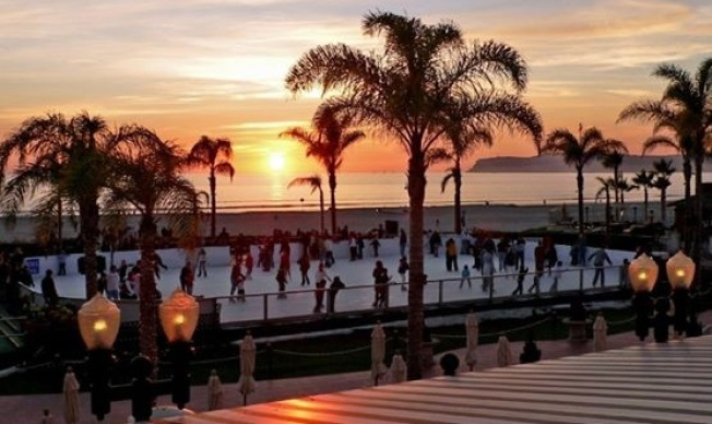 Ice Skate by the Beach at The Del