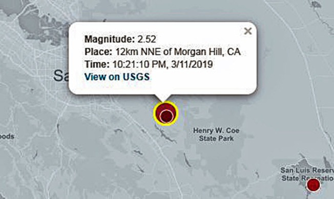Two Small Earthquakes Rattle the Bay Area: USGS