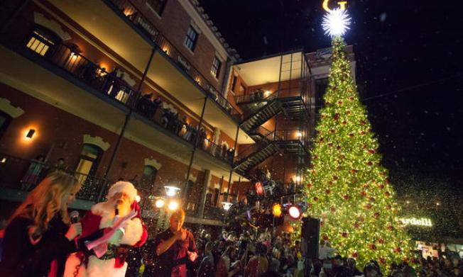 The Ghirardelli Square Christmas Tree Lighting Ceremony