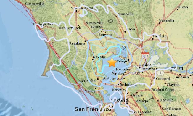 Magnitude 3.7 Earthquake Shakes Near Vallejo